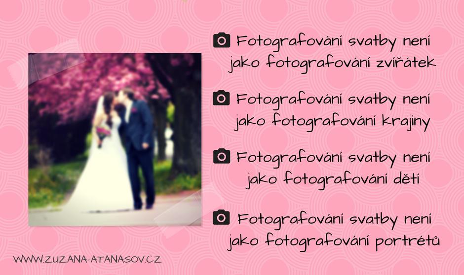 Fotografování svatby není jako fotografování zvířátek